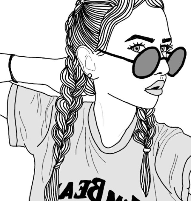 tumblr girl coloring pages tumblr outline tumblroutline tumblroutlines cute pretty tumblr coloring girl pages