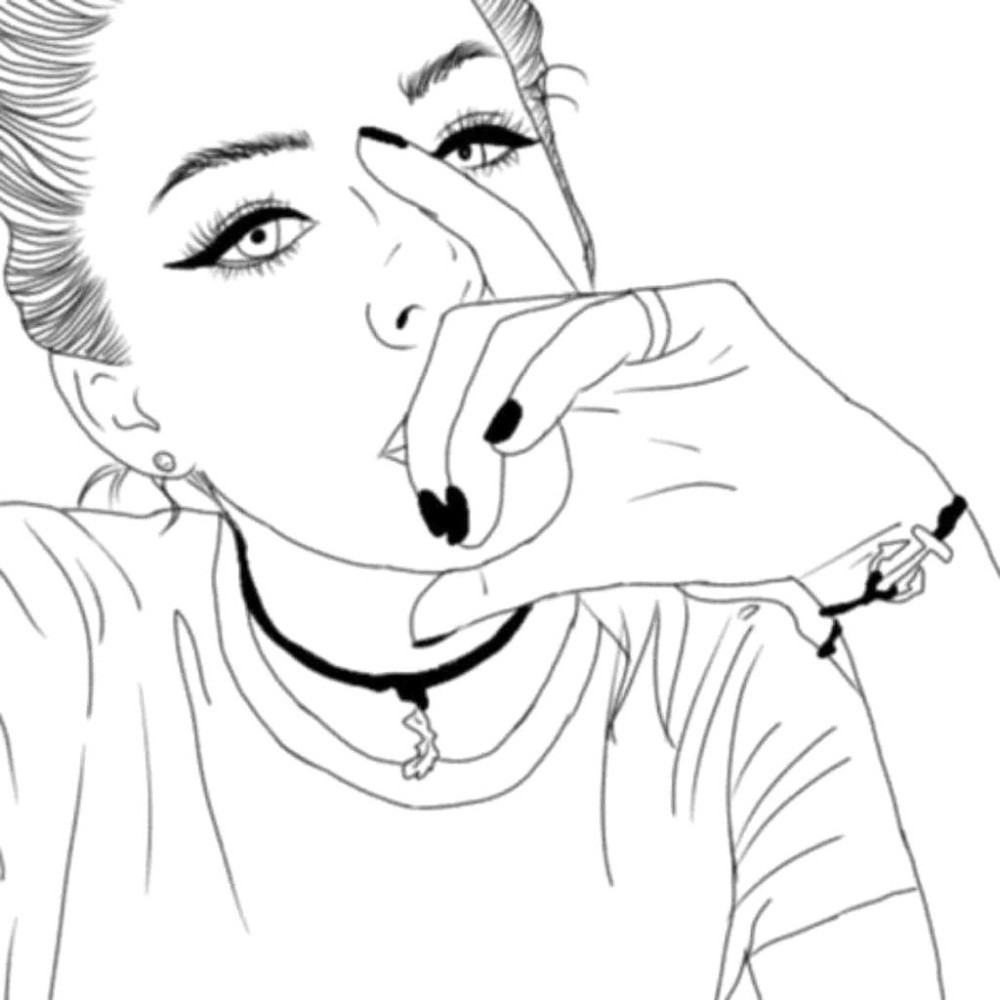 Tumblr girl coloring pages