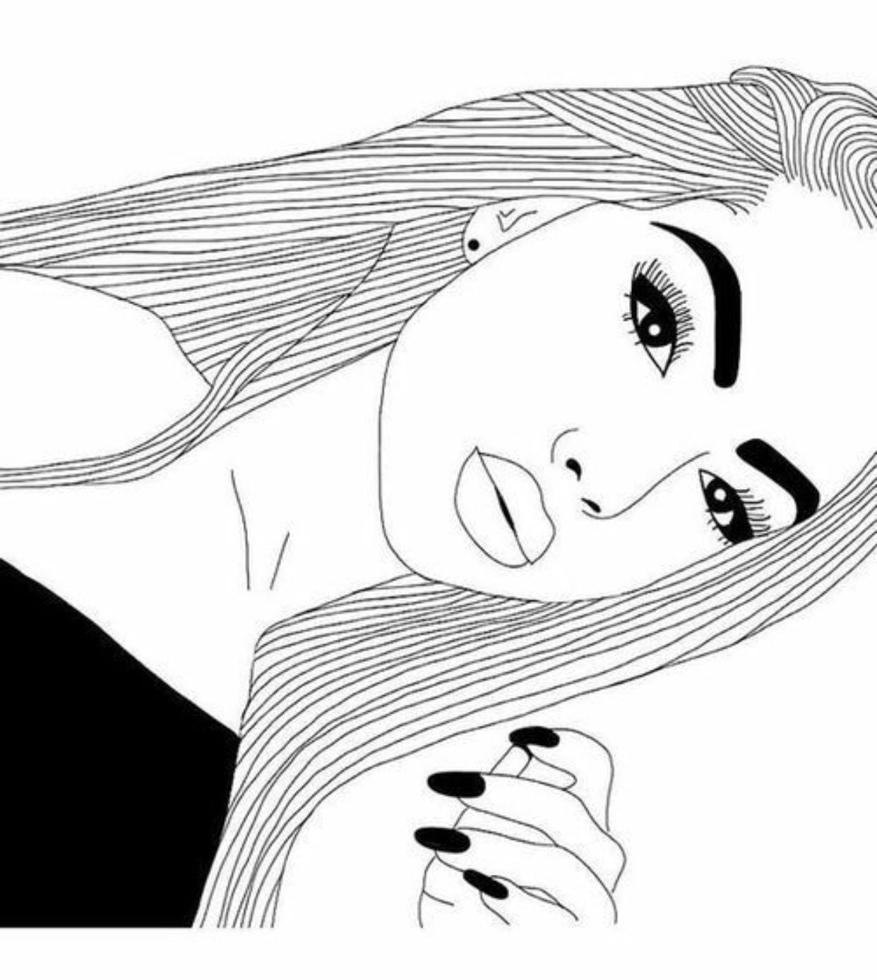 tumblr girl coloring pages tumblr png coloring pages girl tumblr drawing tumblrgirl tumblr girl coloring pages