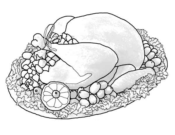 turkey dinner coloring page a whole turkey sets of thanksgiving day dinner menu dinner page turkey coloring