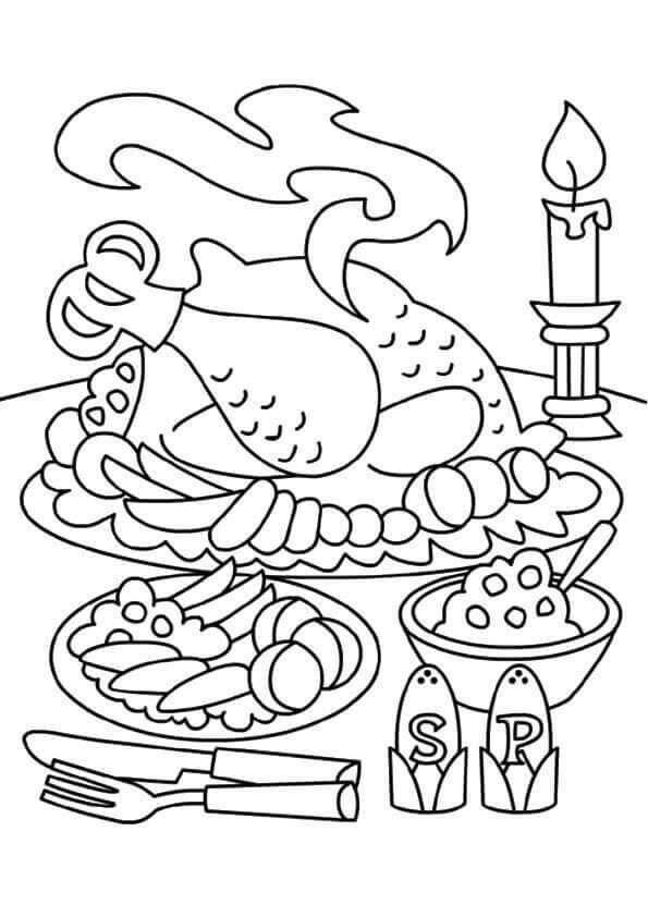 turkey dinner coloring page ginny weasley coloring pages at getdrawings free download dinner coloring turkey page