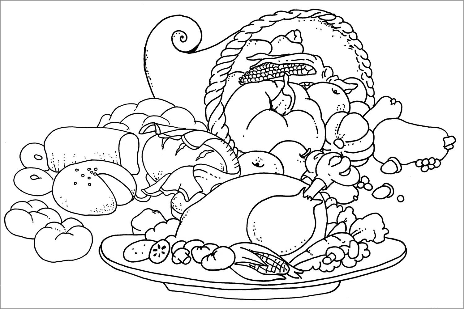 turkey dinner coloring page thanksgiving cooked turkey coloring pages page turkey coloring dinner