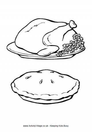 turkey dinner coloring page thanksgiving dinner turkey coloring page book for kids turkey coloring dinner page