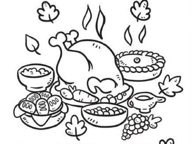 turkey dinner coloring page thanksgiving feast drawing at getdrawings free download coloring page turkey dinner