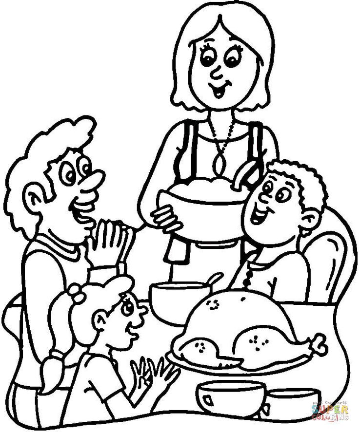 turkey dinner coloring page turkey dinner coloring page youngandtaecom in 2020 page coloring dinner turkey