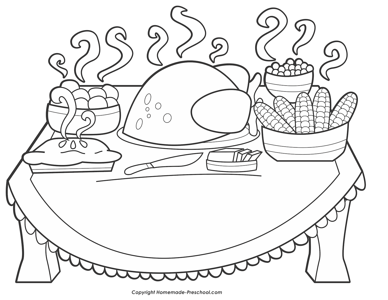 turkey dinner coloring page turkey dinner drawing at getdrawings free download page turkey dinner coloring