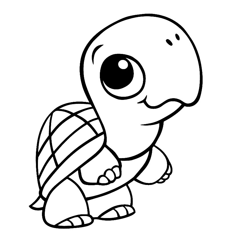 turtle pictures to color coloring page cute cartoon hatchling of sea turtle stock to pictures color turtle