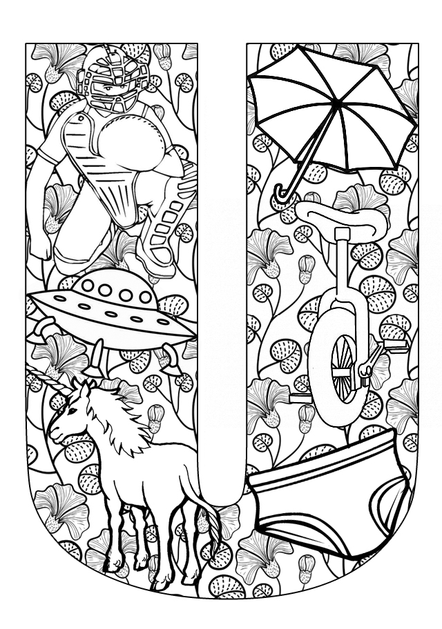 u coloring page letter u coloring pages to download and print for free page coloring u