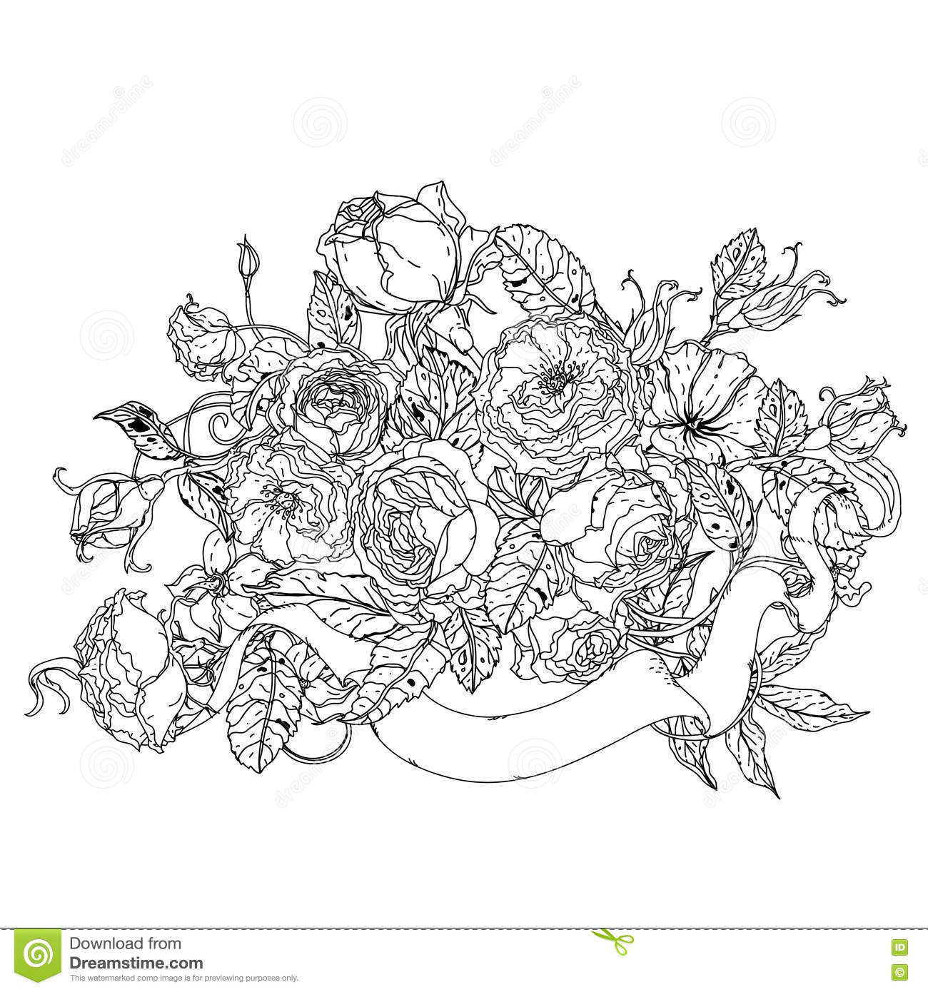 uncolored pictures of flowers document geek make a valentine39s day flower with indesign pictures flowers uncolored of