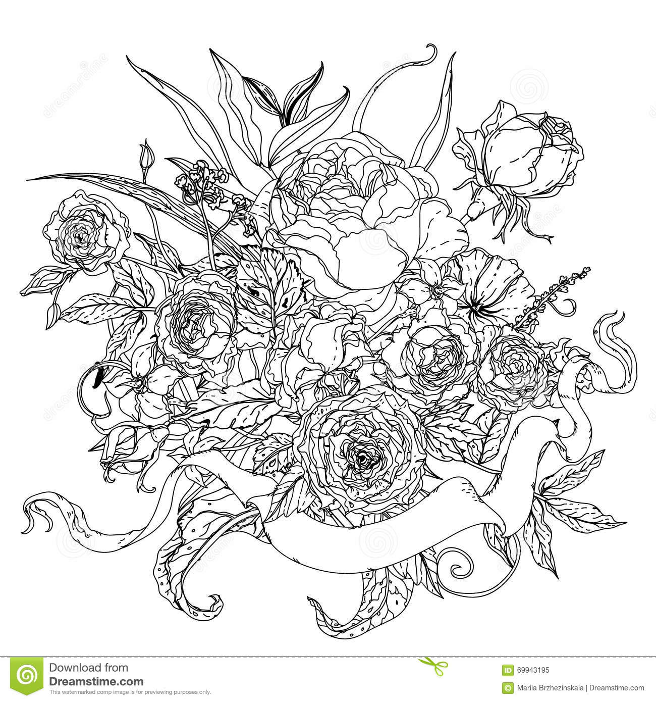 uncolored pictures of flowers uncolored hawaiian flower tattoo sample 1 best tattoo uncolored of flowers pictures