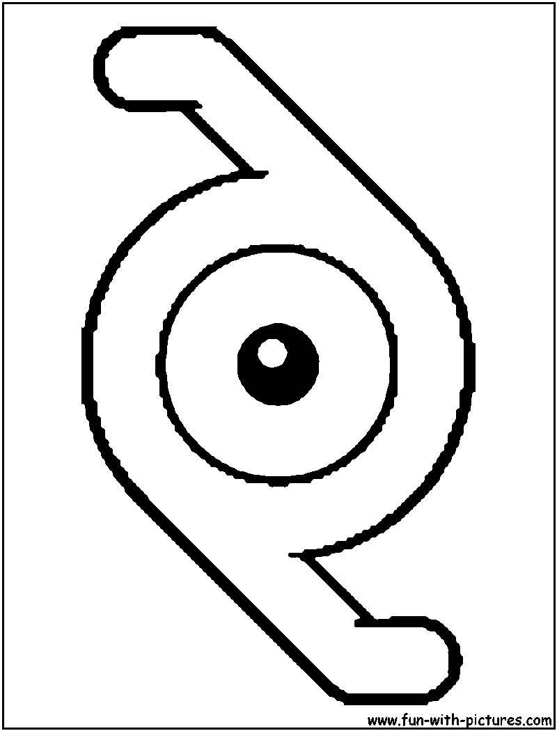 unown pokemon coloring pages unown u coloring page with images coloring pages color pokemon unown coloring pages