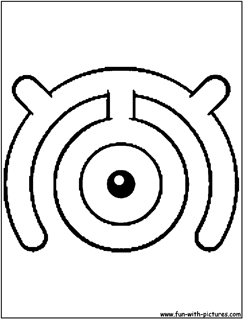 unown pokemon coloring pages unown w coloring page with images coloring pages pokemon pages unown coloring