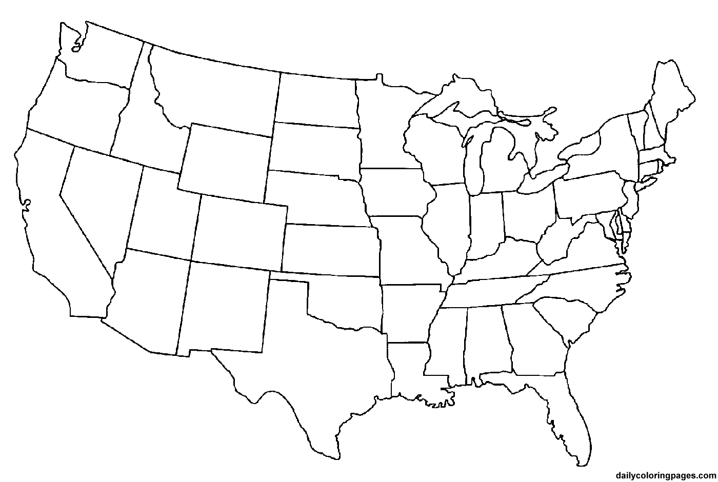 us state map coloring page 50 states coloring pages at getcoloringscom free page us state map coloring