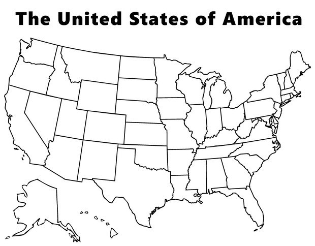us state map coloring page blank copy of the united states map map us coloring state page