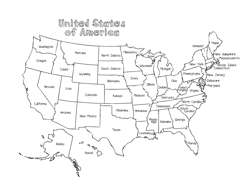 us state map coloring page map of united states coloring page printable coloring coloring map us page state