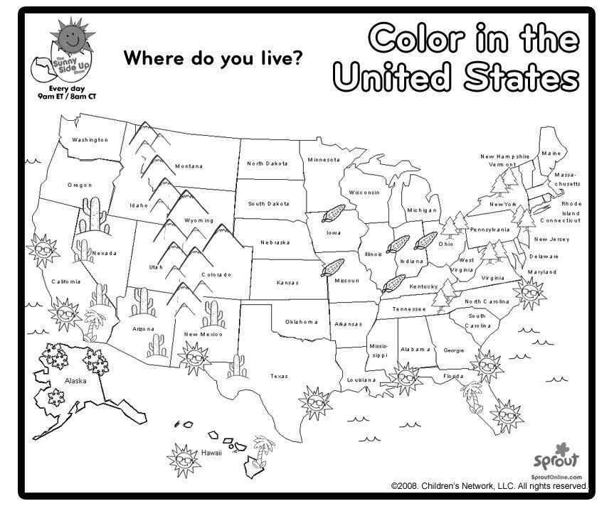 us state map coloring page print and color us map coloring page 3rd grade social map coloring state page us