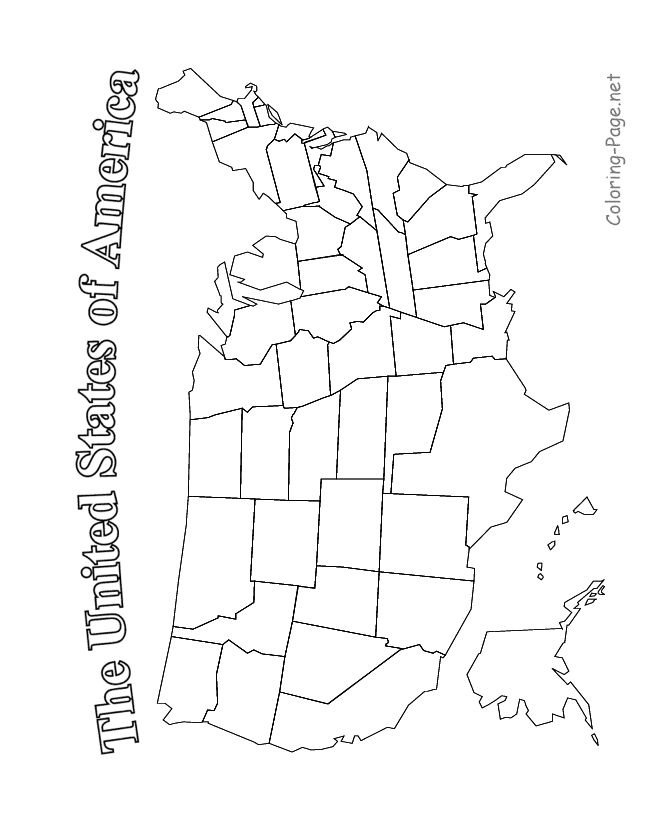 us state map coloring page printable labeled united states states map coloring page coloring map us state page