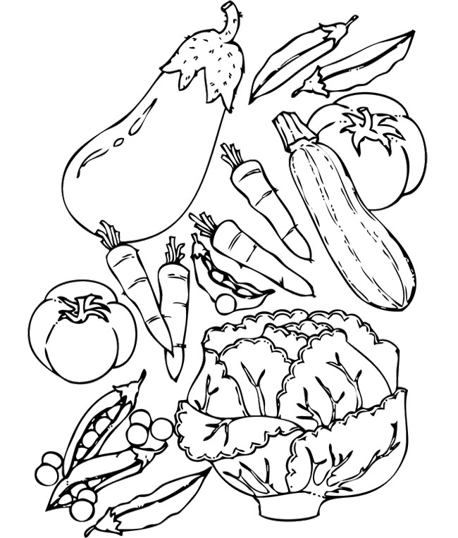 vegetable pictures to color vegetable coloring pages for preschoolers toddlers vegetable pictures color to