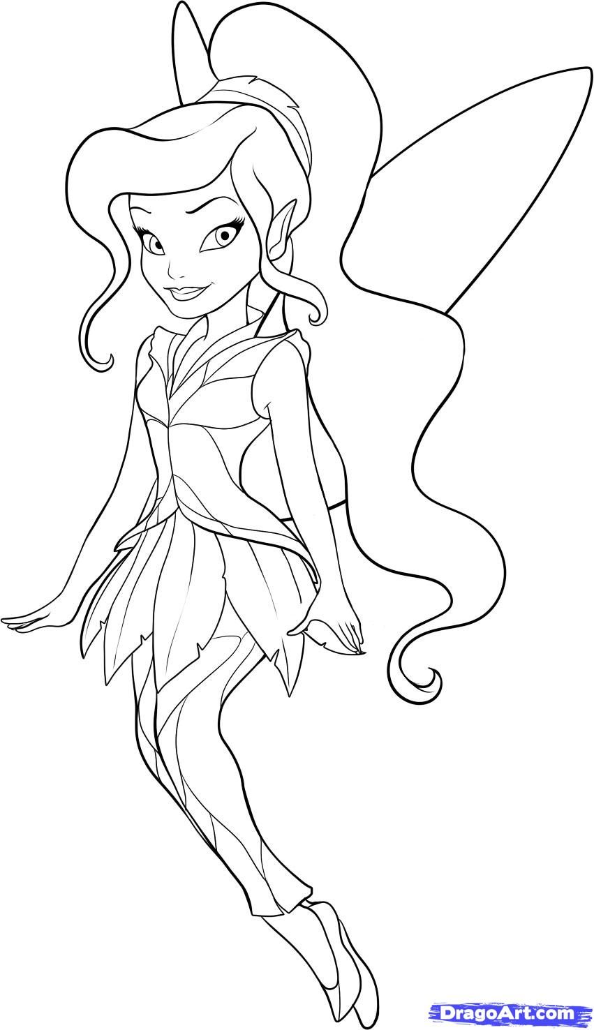 Vidia coloring pages