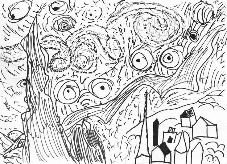 vincent van gogh starry night coloring page 32 starry night coloring page in 2020 with images van page vincent starry van coloring night gogh