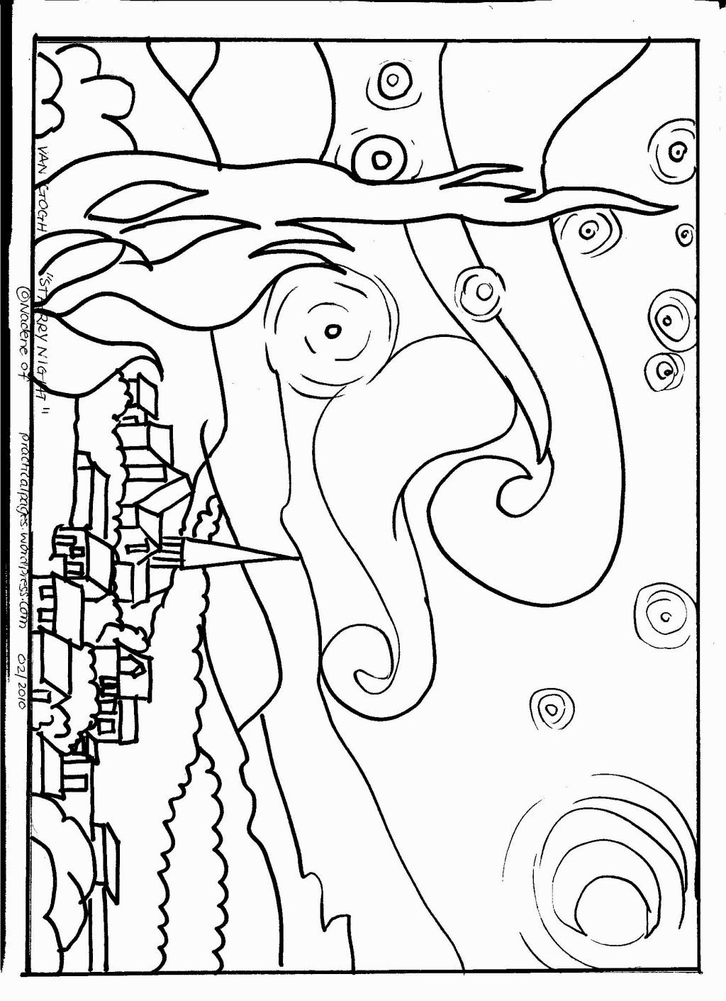 vincent van gogh starry night coloring page van gogh coloring pages google zoeken van gogh van starry coloring page gogh night vincent