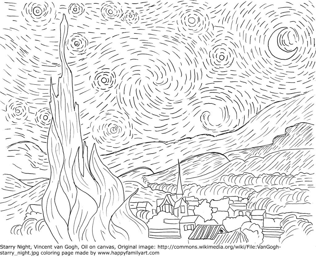 vincent van gogh starry night coloring page vangoghstarrynightmedium cool coloring pages van gogh van coloring page night gogh starry vincent