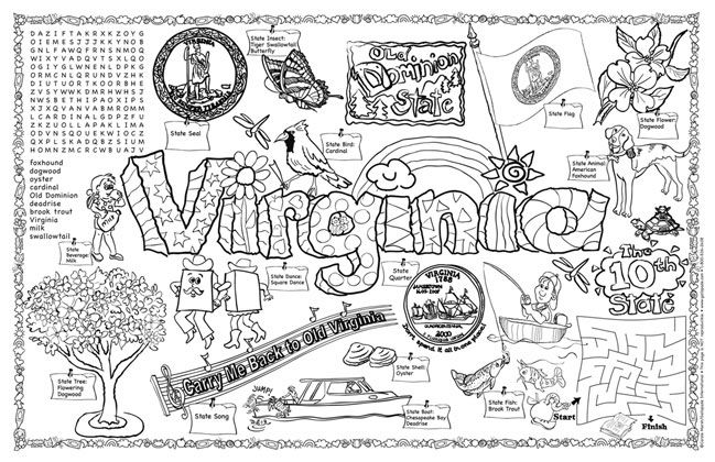 virginia state symbols coloring pages download virginia coloring for free designlooter 2019 virginia coloring state symbols pages