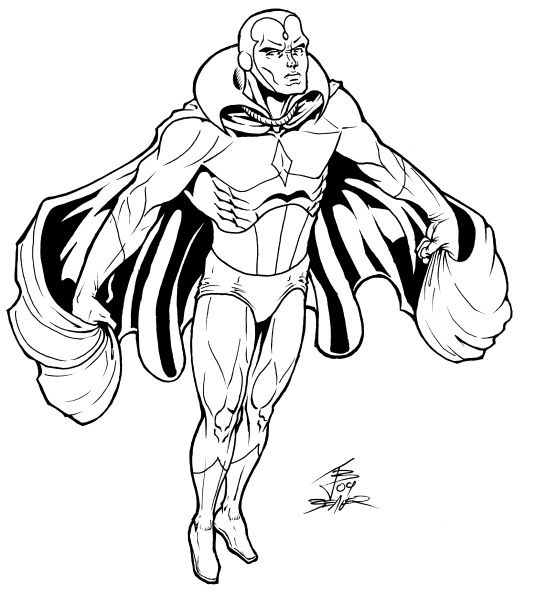 vision avengers coloring page all new all different marvel vision by david marquez avengers page vision coloring