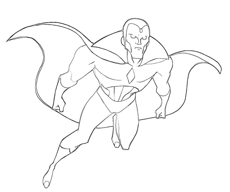 vision avengers coloring page the vision marvel the vision marvel comics 2005 coloring page vision avengers