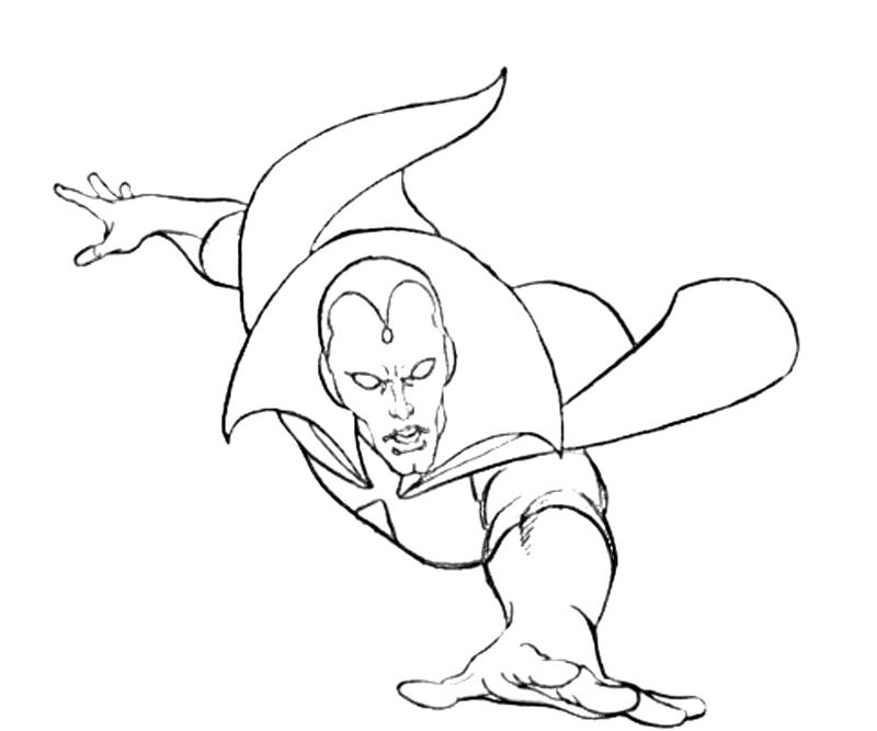 vision avengers coloring page vision sketch in darrin wiltshire39s andy smith comic vision page coloring avengers