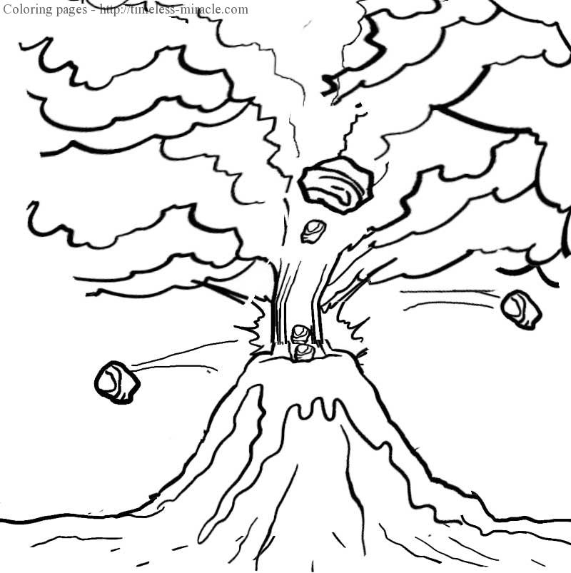 volcano coloring pages to print volcano coloring pages to print at getdrawings free download print volcano coloring to pages