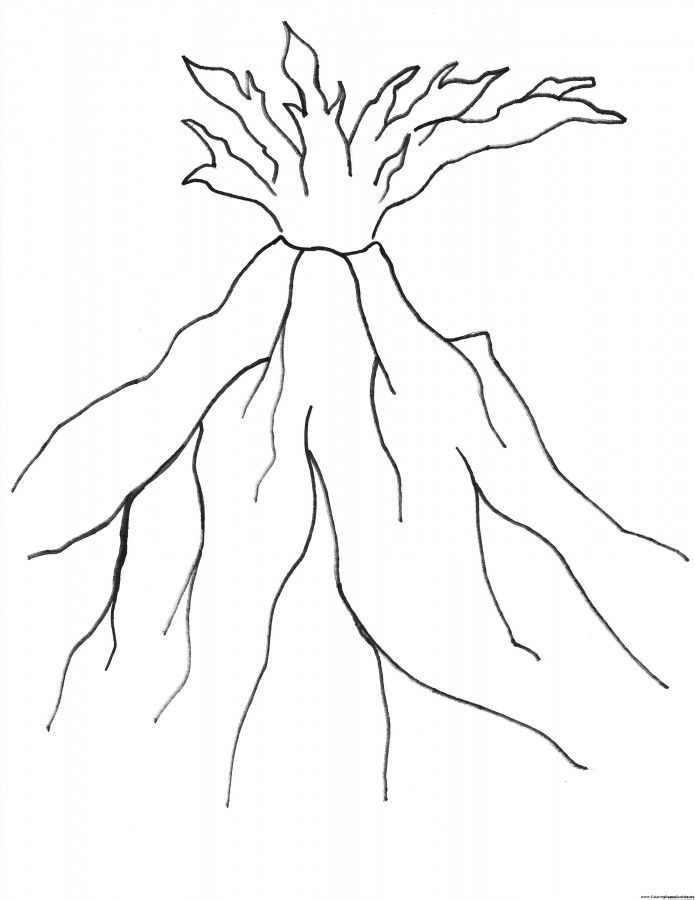 volcano coloring pages to print volcano eruption drawing at getdrawings free download pages to print coloring volcano