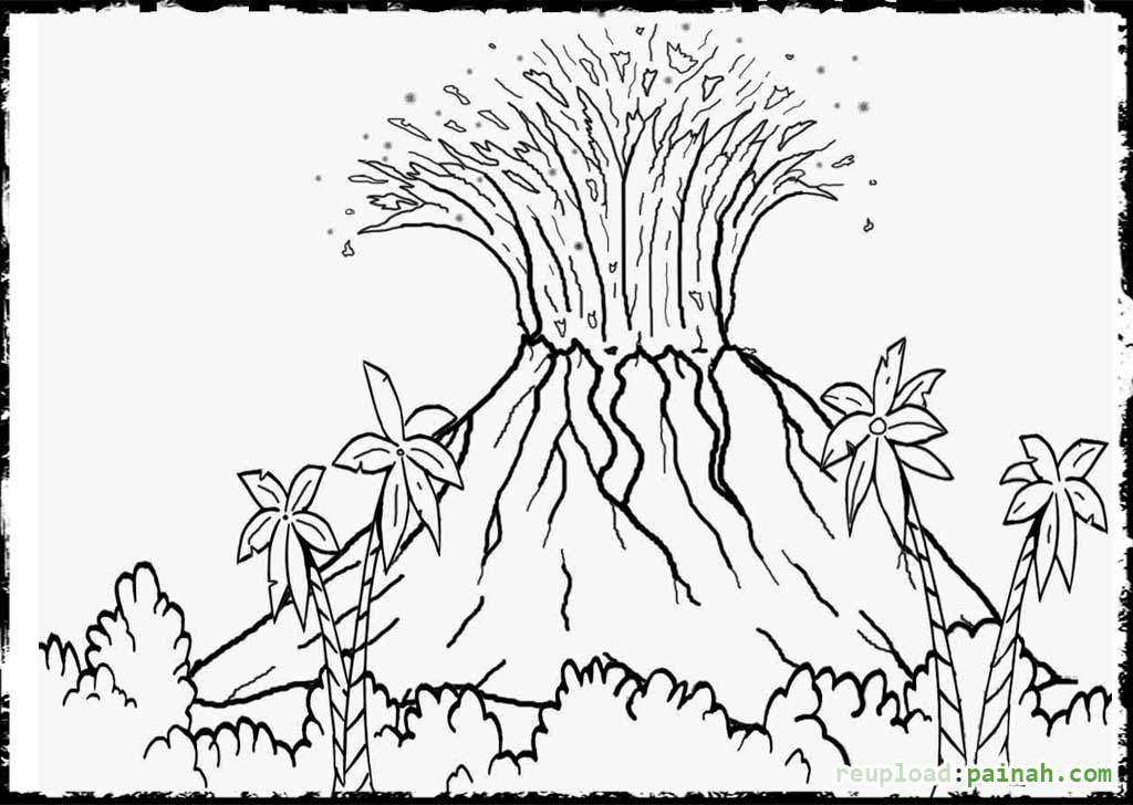 volcano coloring pages to print volcano pictures for kids to color timeless miraclecom to pages print volcano coloring