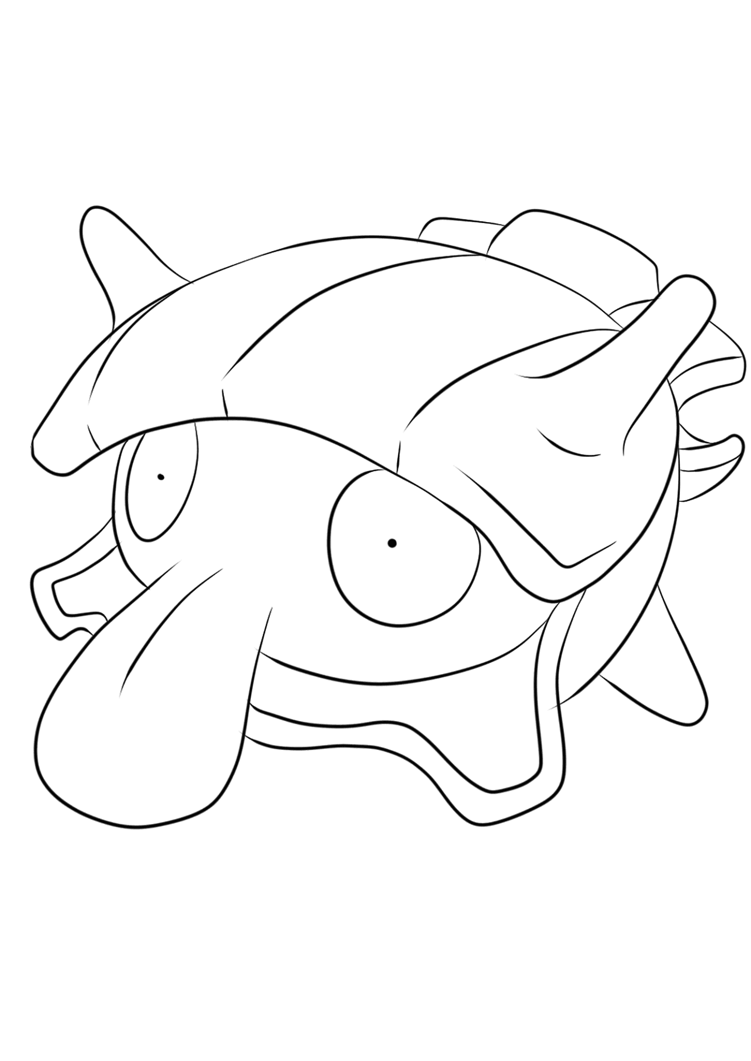 water pokemon coloring pages shellder no90 pokemon generation i all pokemon water pokemon pages coloring