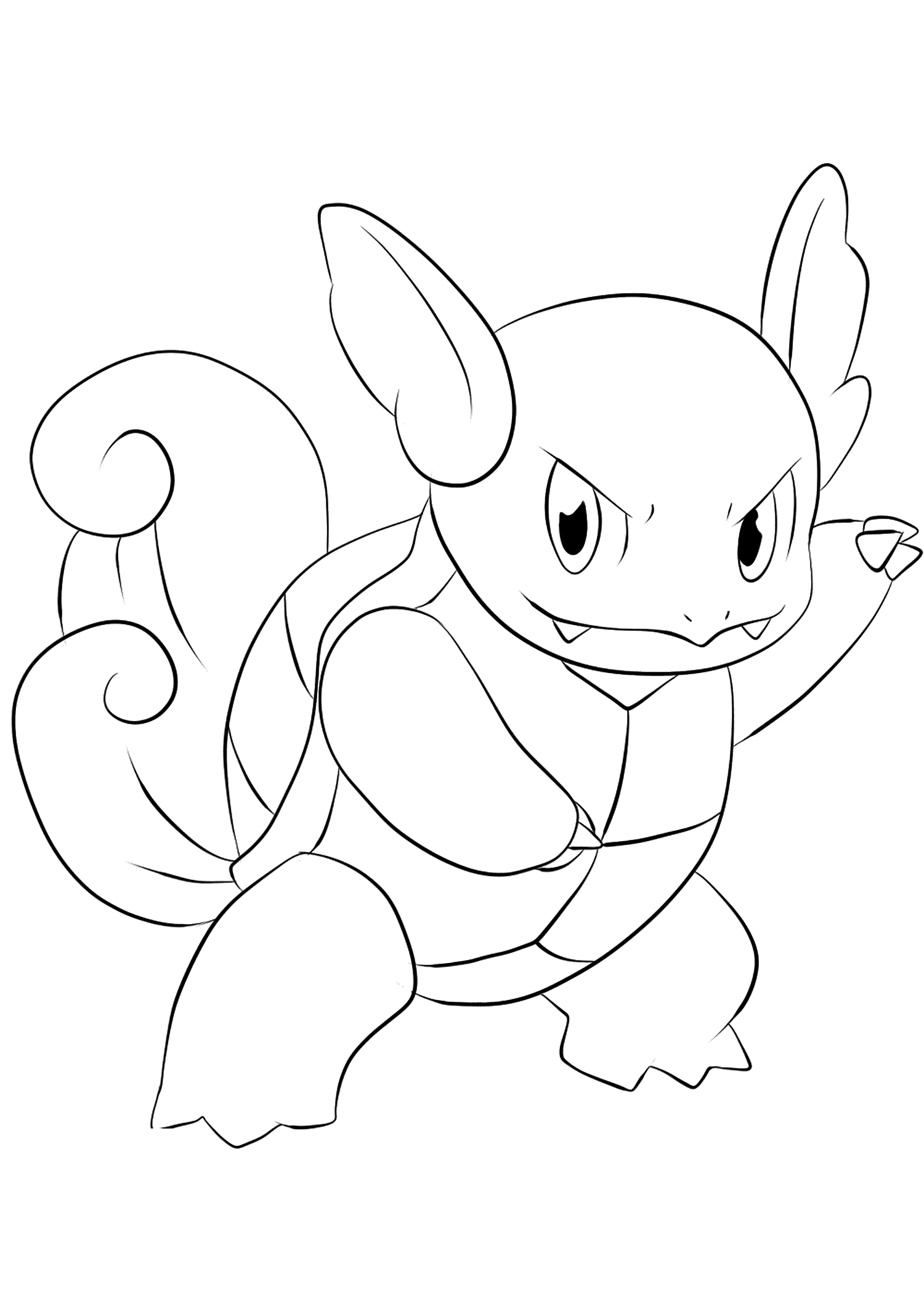 water pokemon coloring pages wartortle no08 pokemon generation i all pokemon pages coloring water pokemon