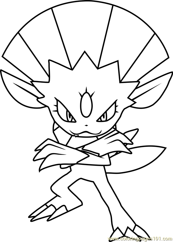 Weavile pokemon coloring pages