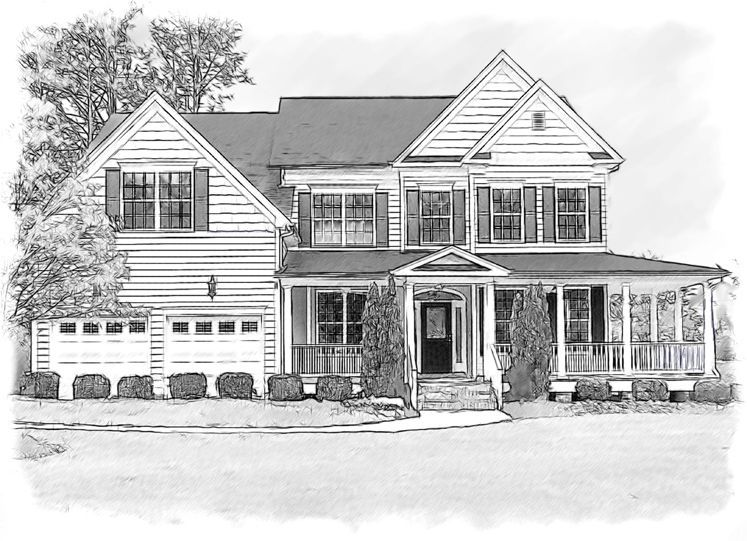 white house sketch black and white house drawing pencil and ink house house sketch white