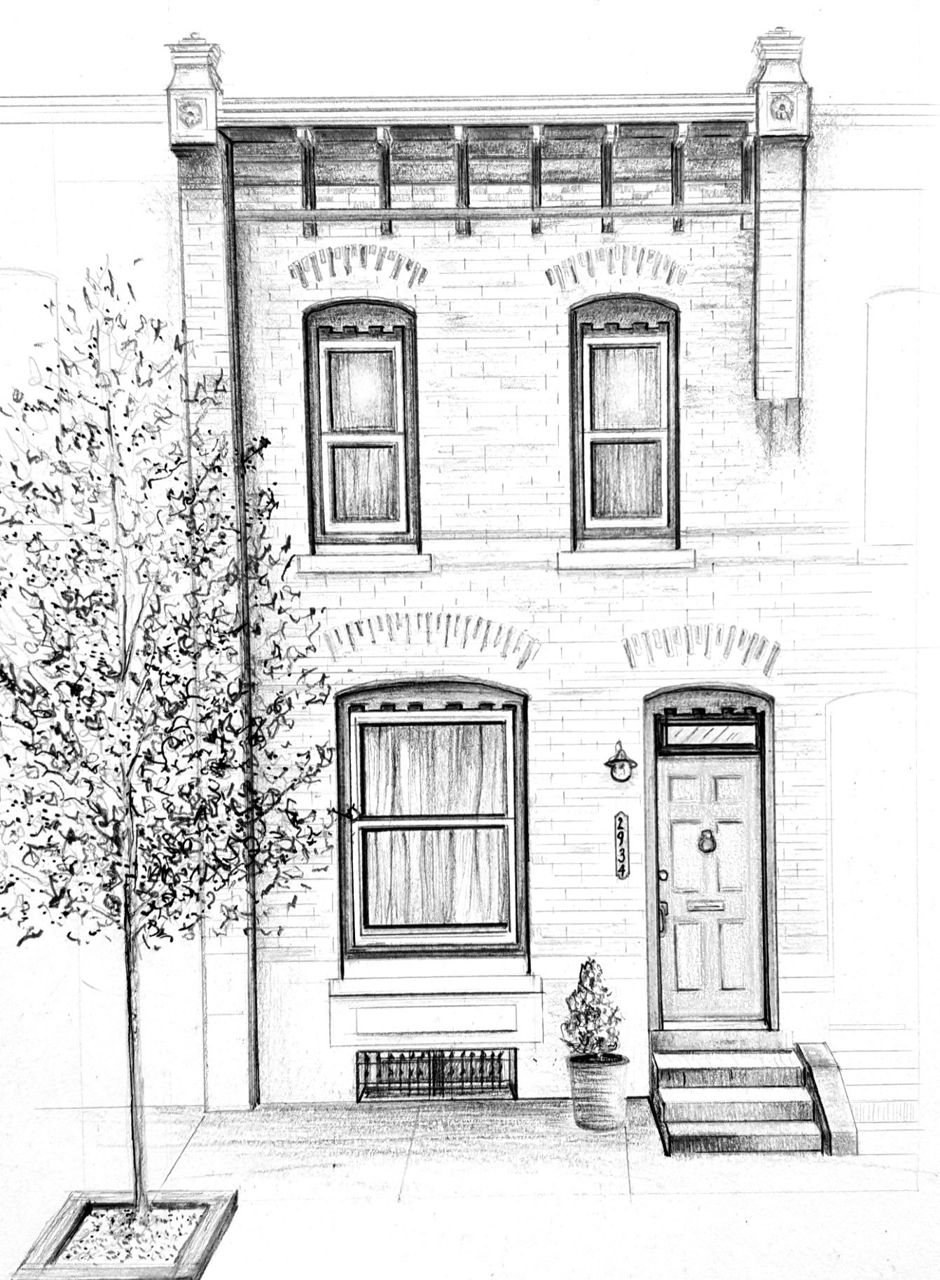 white house sketch image detail for home portrait a black and white house white sketch