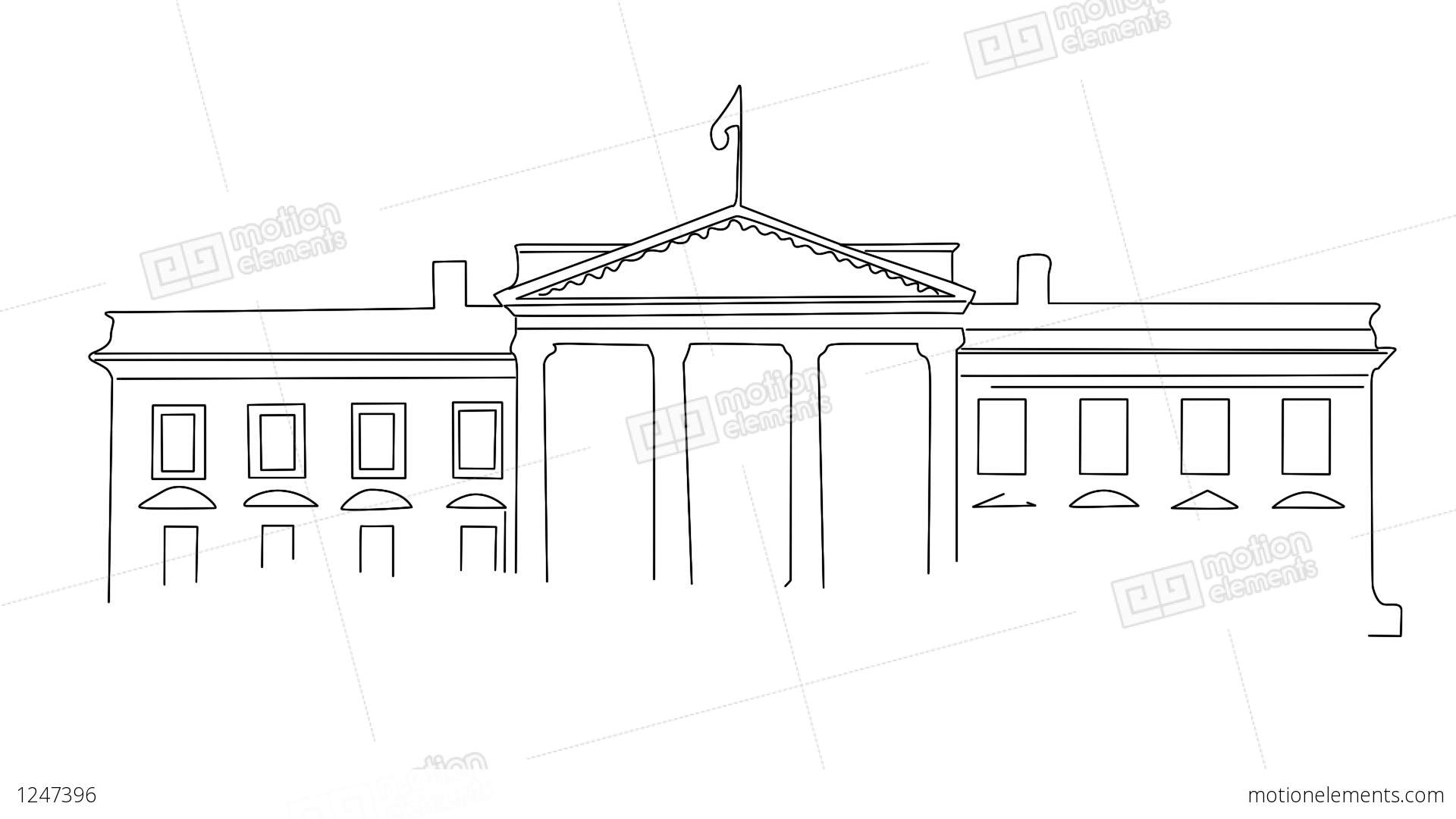 white house sketch white house 01 handdraw stock animation 1247396 white house sketch