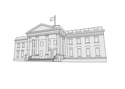 white house sketch white house line drawing at getdrawings free download sketch house white