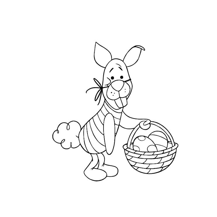 winnie the pooh easter coloring pages winnie the pooh and friends coloring pages free pages coloring the easter pooh winnie