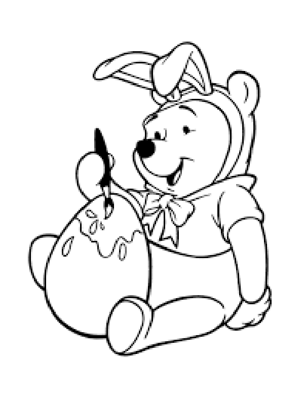 winnie the pooh easter coloring pages winnie the pooh easter coloring pages at getcoloringscom coloring pooh the easter winnie pages