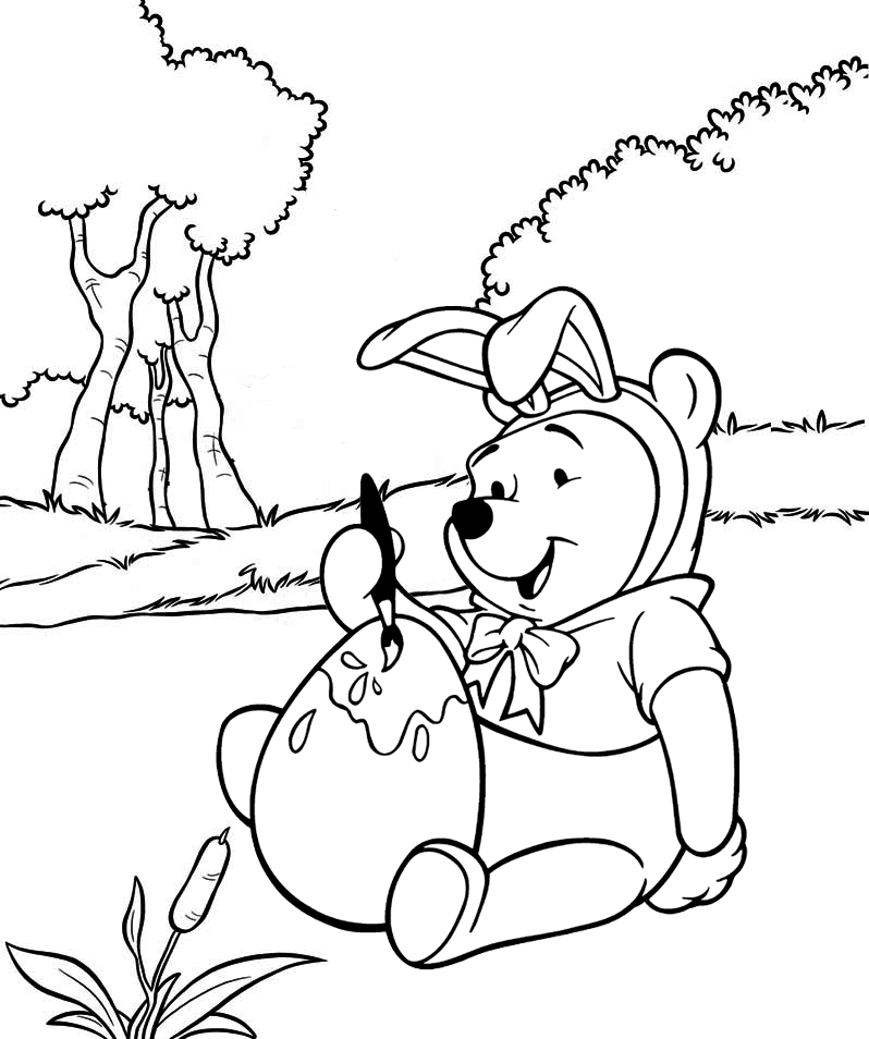 winnie the pooh easter coloring pages winnie the pooh easter day painting egg coloring page easter coloring pooh the winnie pages