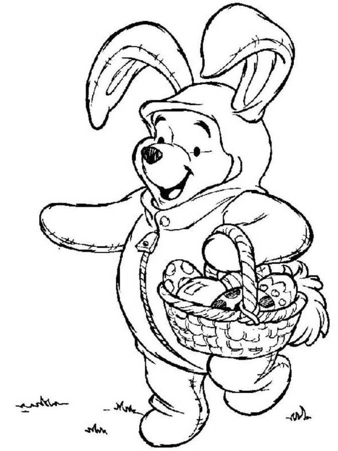 winnie the pooh easter coloring pages winnie the pooh on easter bunny costume disney coloring winnie coloring easter pooh pages the