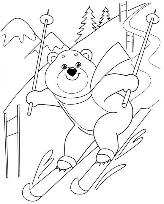 winter sports coloring pages coloriage sports d39hiver ski alpin 1 sports pages coloring winter
