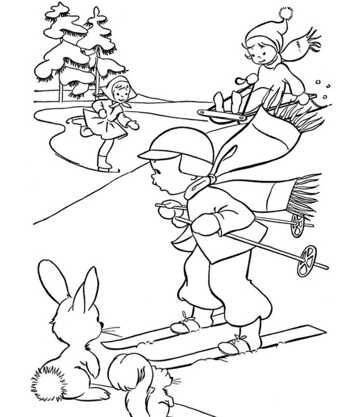 winter sports coloring pages read morefun skating winter themed coloring pages sports coloring winter pages