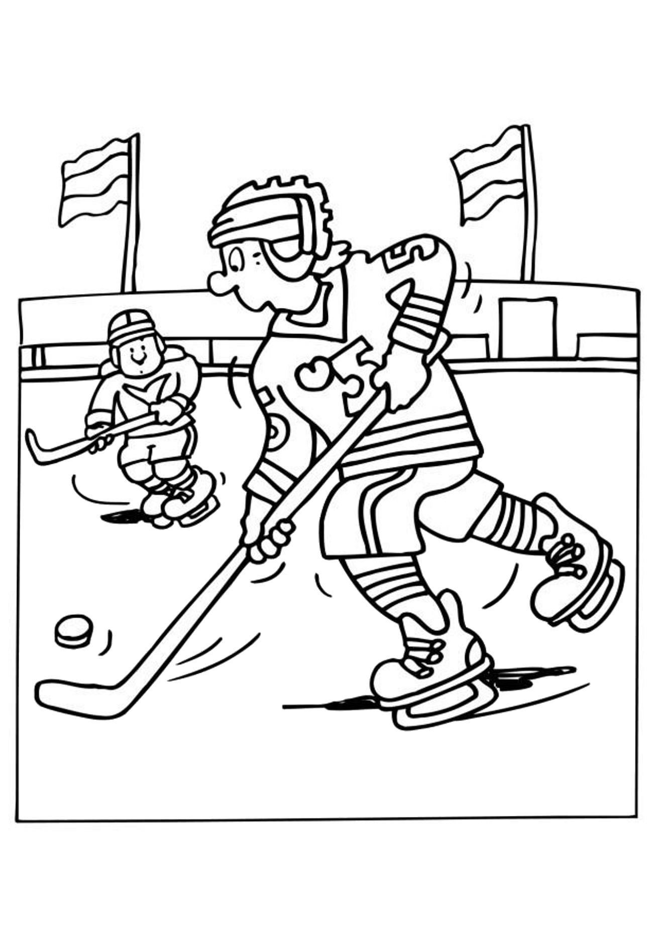 winter sports coloring pages trying to get past the opponent hockey sports coloring pages sports winter coloring