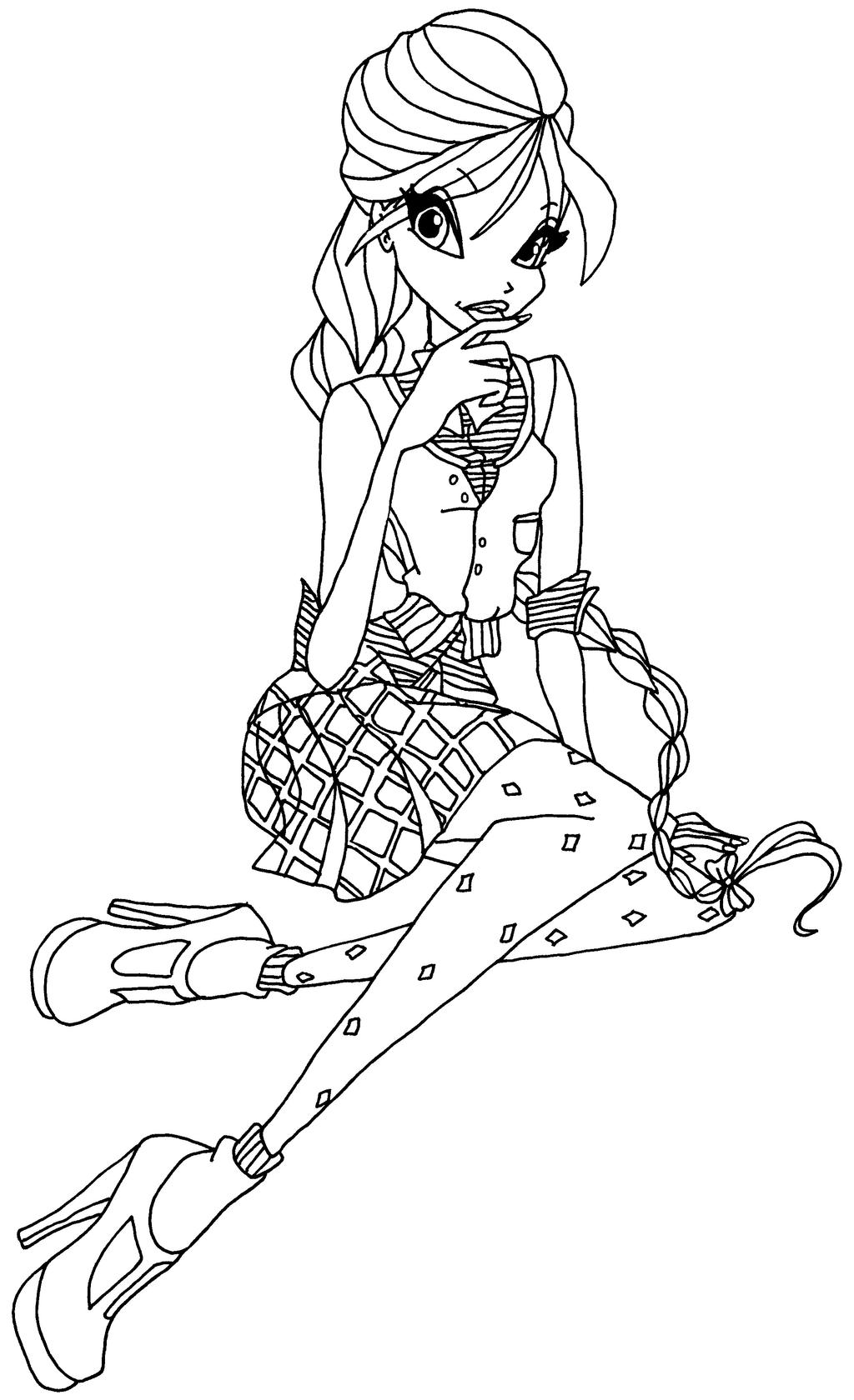 winx club coloring pages bloom bloom by werunchick on deviantart club winx coloring bloom pages