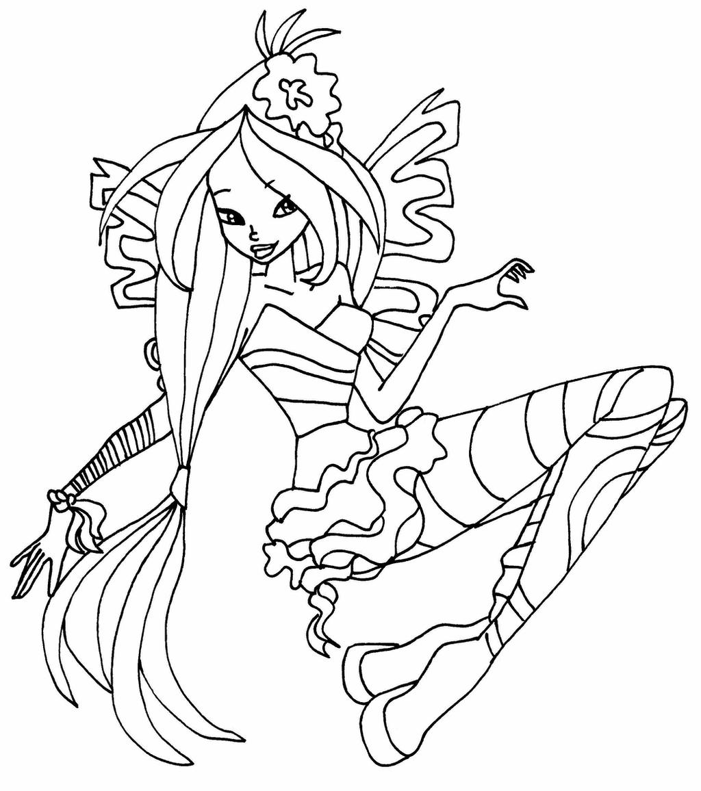winx club coloring pages flora flora season 5 by elfkena on deviantart flora coloring pages winx club