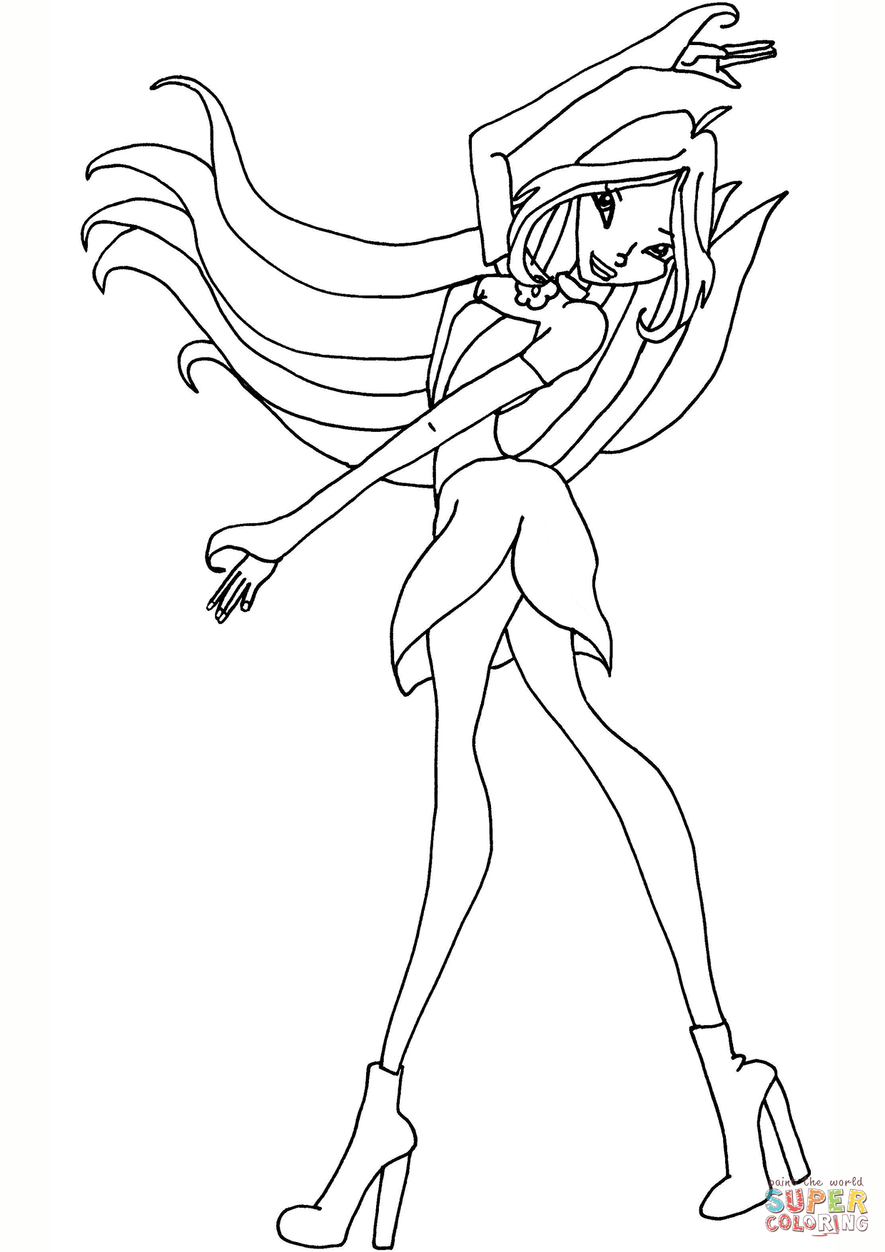 winx club coloring pages flora flora winx club coloring pages for girls printable free coloring flora club pages winx